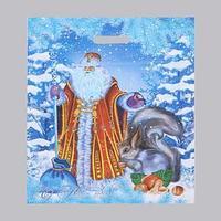 Пакет 'Дед Мороз и Снегурочка', полиэтиленовый с вырубной ручкой, 41 х 51 см, 80 мкм (комплект из 25 шт.)