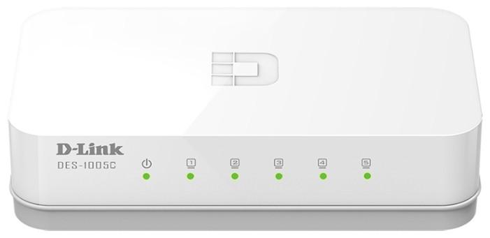 Неуправляемый коммутатор D-Link DES-1005C/A1A, 10/100, 5-портовый