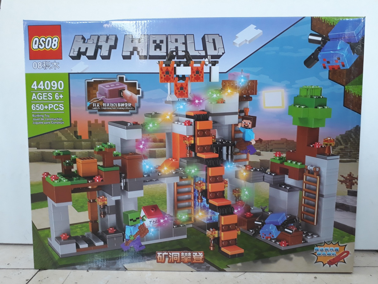 Конструктор QS08 My world 44090 650 pcs. Minecraft. Майнкрафт