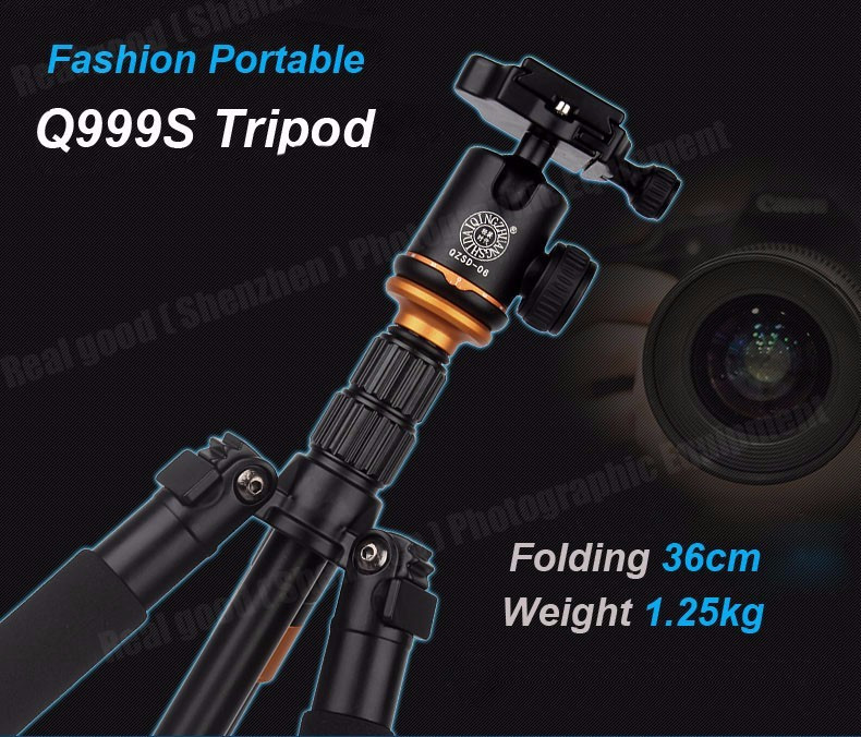 Штатив/ монопод Beike Q999S алюминиевый Профессиональный для фотоаппарата - фото 6