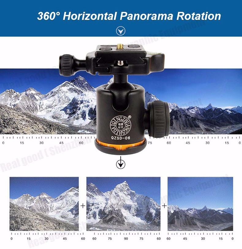 Штатив/ монопод Beike Q999S алюминиевый Профессиональный для фотоаппарата - фото 5