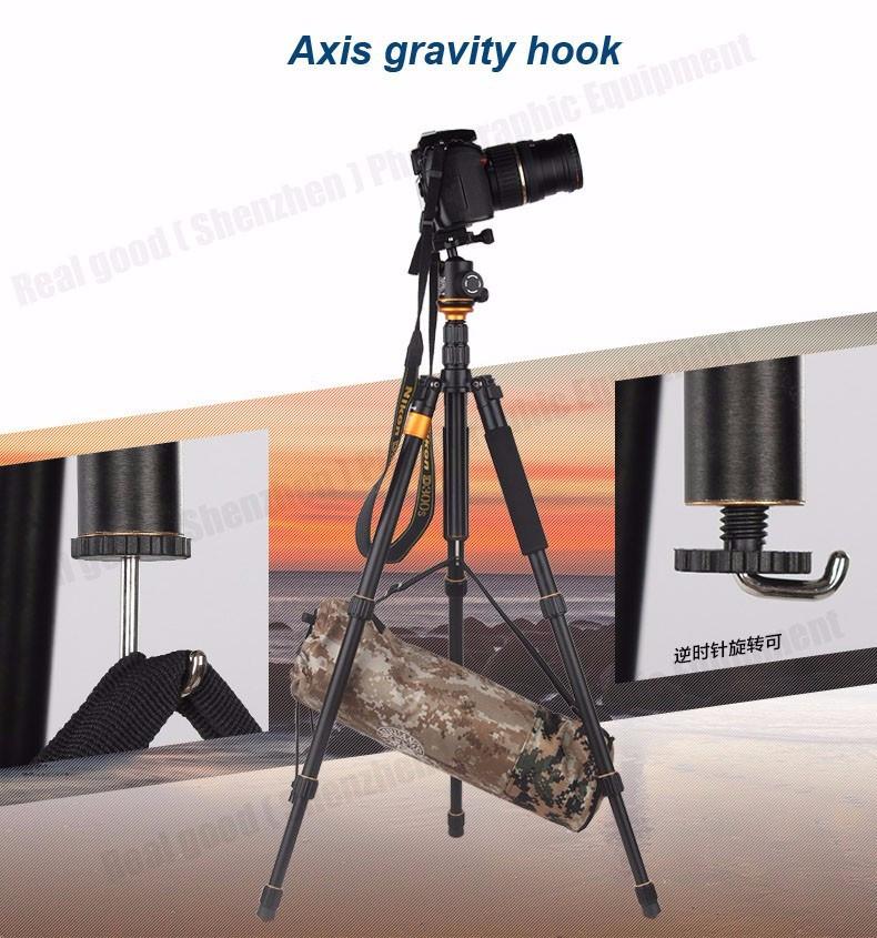Штатив/ монопод Beike Q999S алюминиевый Профессиональный для фотоаппарата - фото 7