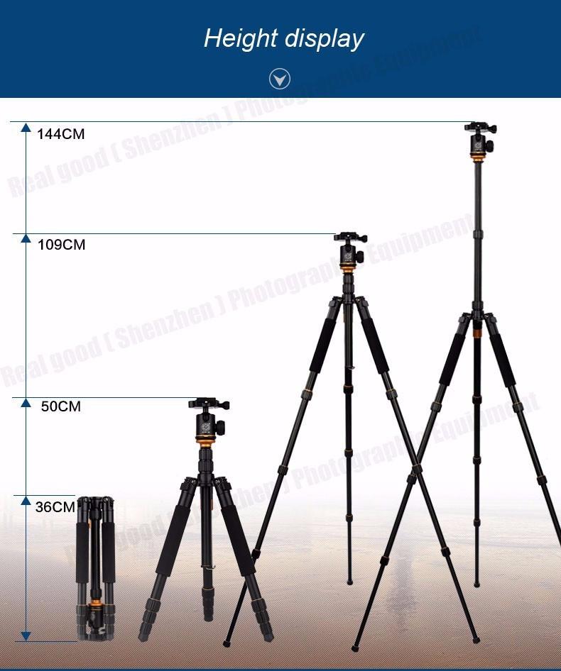 Штатив/ монопод Beike Q999S алюминиевый Профессиональный для фотоаппарата - фото 1
