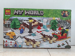 Конструктор LARI My world 11027 375 pcs. Minecraft. Майнкрафт