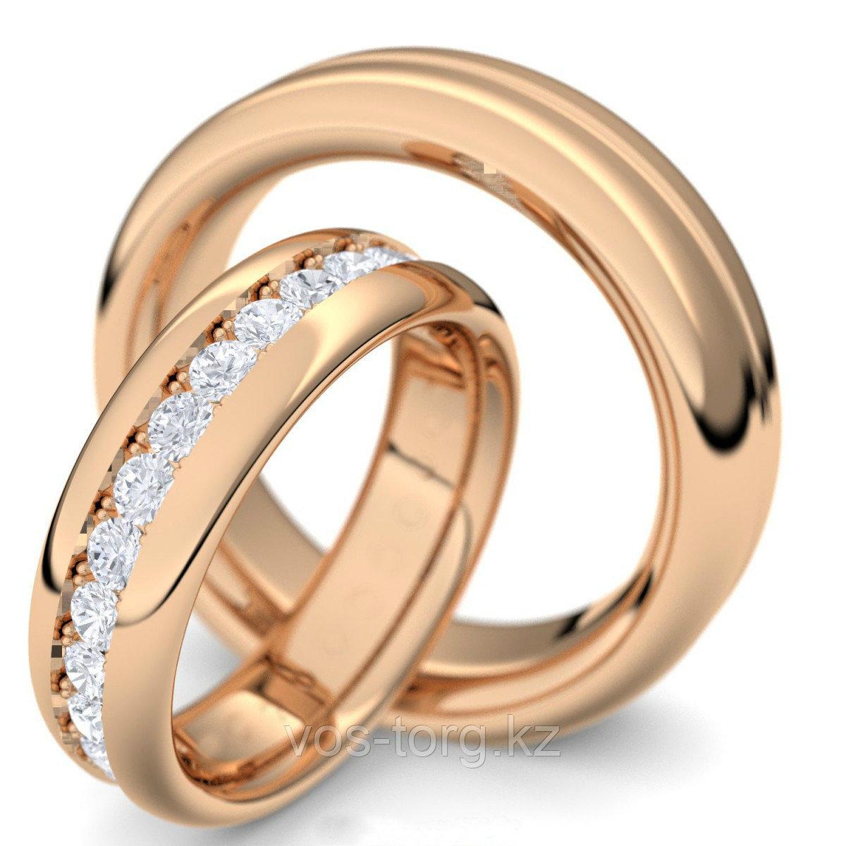 """Кольцо """"Обручальное кольцо"""" red - фото 2"""