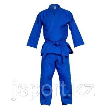 Кимоно для дзюдо 160см, синий/белый