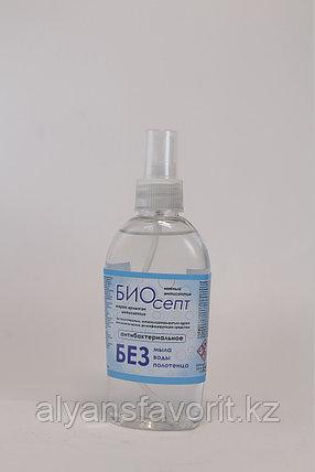Биосепт-  антисептик для рук (санитайзер) 200 мл.- карманный спрей. РК, фото 2