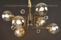 Люстра на 6 ламп в цвете Медь, фото 1