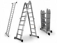 Лестница трансформер шарнирная 4 ступеней