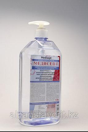 Медисепт - антисептик для рук (санитайзер) 1 литр. РК, фото 2