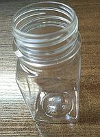 Бутылк 100мл PET 38мм прозр/квадратн+крышка (мешок 300шт)