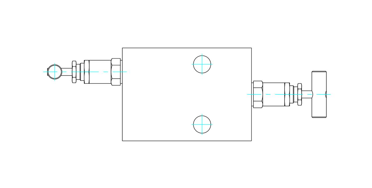 Двухвентельный манифольд серии VBD56