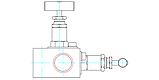 Двухвентельный манифольд серии VBR56, фото 3