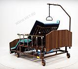 МЕТ REMEKS XL Механическая медицинская кровать с переворотом и туалетом, с увеличенной шириной ложа, фото 3