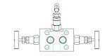 Трёхвентельный манифольд серии VBD56, фото 3