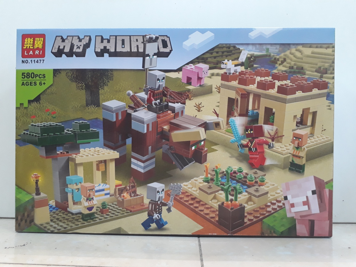 Конструктор LARI My world 11477 580 pcs. Minecraft. Майнкрафт