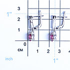 Серьги из серебра с натуральным рубином и фианитом, фото 2