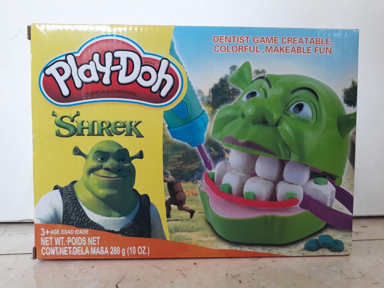 Игра Мистер Зубастик. Шрек. Shrek. Классный подарок. Play-Doh. Пластилин. - фото 1