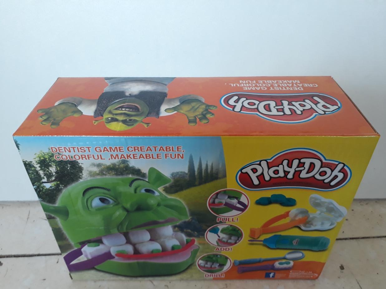 Игра Мистер Зубастик. Шрек. Shrek. Классный подарок. Play-Doh. Пластилин. - фото 2