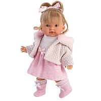 LLORENS: Кукла Валерия 28 см., блондинка в розовом костюме, фото 1