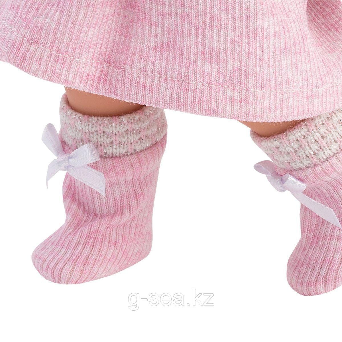 LLORENS: Кукла Валерия 28 см., блондинка в розовом костюме - фото 4