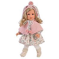 LLORENS: Кукла Лючия 40см, блондинка в розовой пелерине