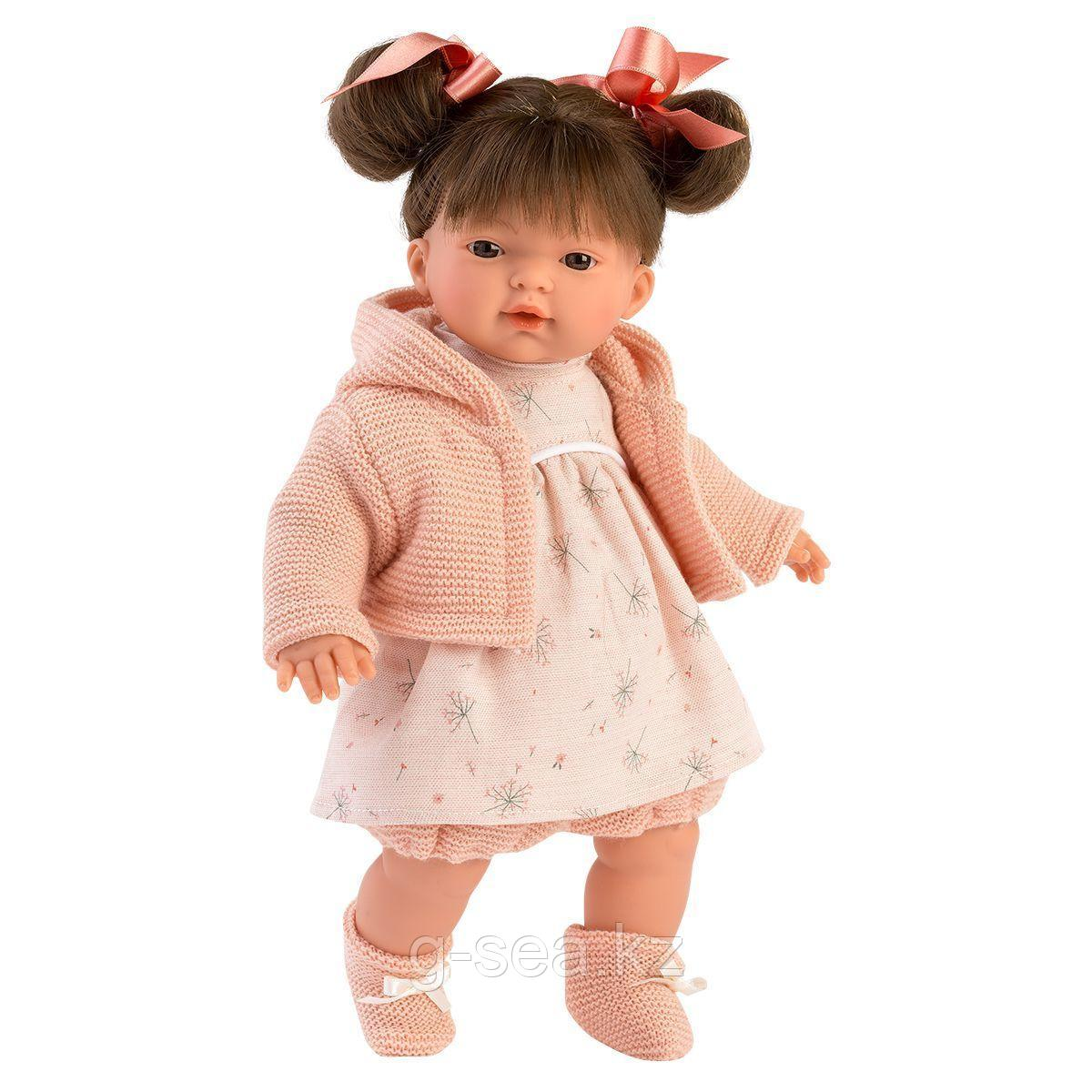 LLORENS: Кукла Рита 33 см., брюнетка в розовом жакете