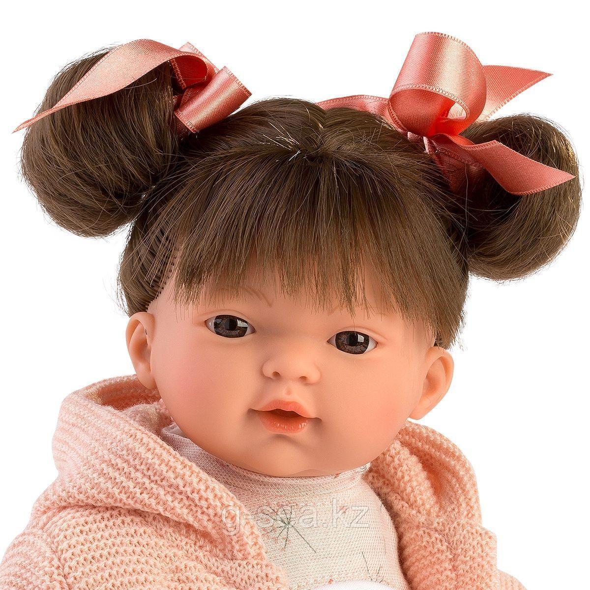 LLORENS: Кукла Рита 33 см., брюнетка в розовом жакете - фото 2