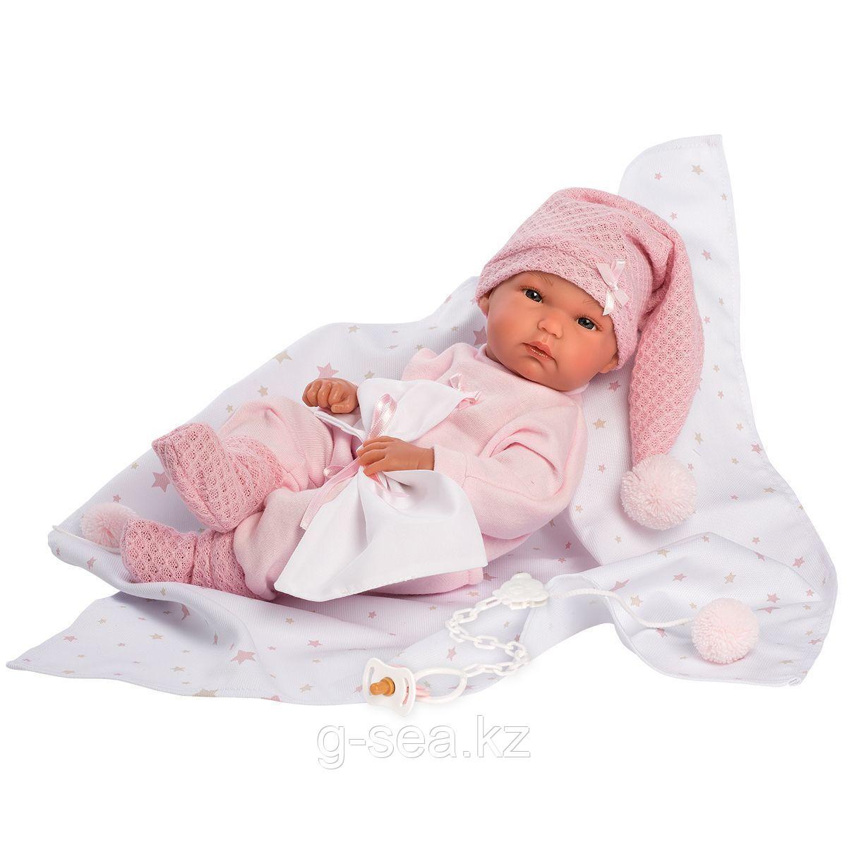 LLORENS: Пупс Малышка 35 см., с конвертиком в розовом