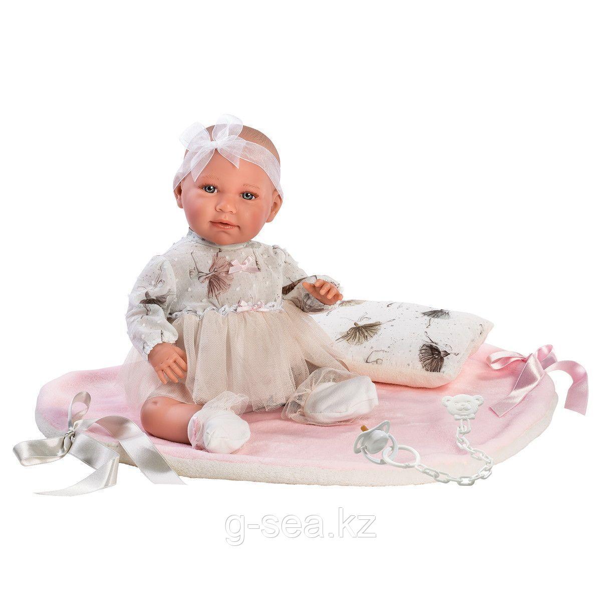 LLORENS: Пупс Малышка-балерина 40см, с одеялом и подушкой