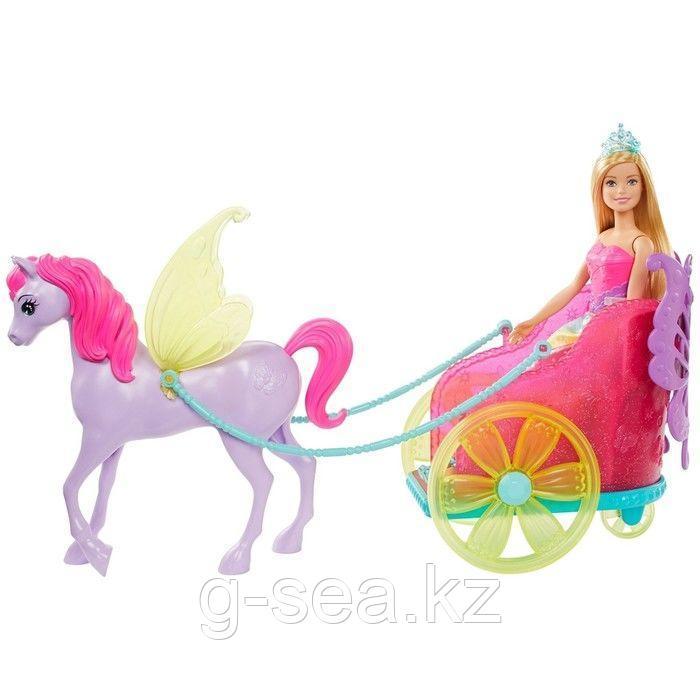 Barbie: Дримтопия: Кукла Barbie Dreamtopia Сказочный экипаж с фантастической лошадью - фото 2