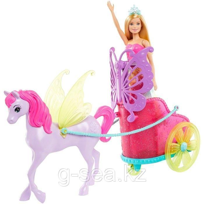 Barbie: Дримтопия: Кукла Barbie Dreamtopia Сказочный экипаж с фантастической лошадью - фото 6