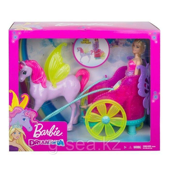 Barbie: Дримтопия: Кукла Barbie Dreamtopia Сказочный экипаж с фантастической лошадью - фото 7