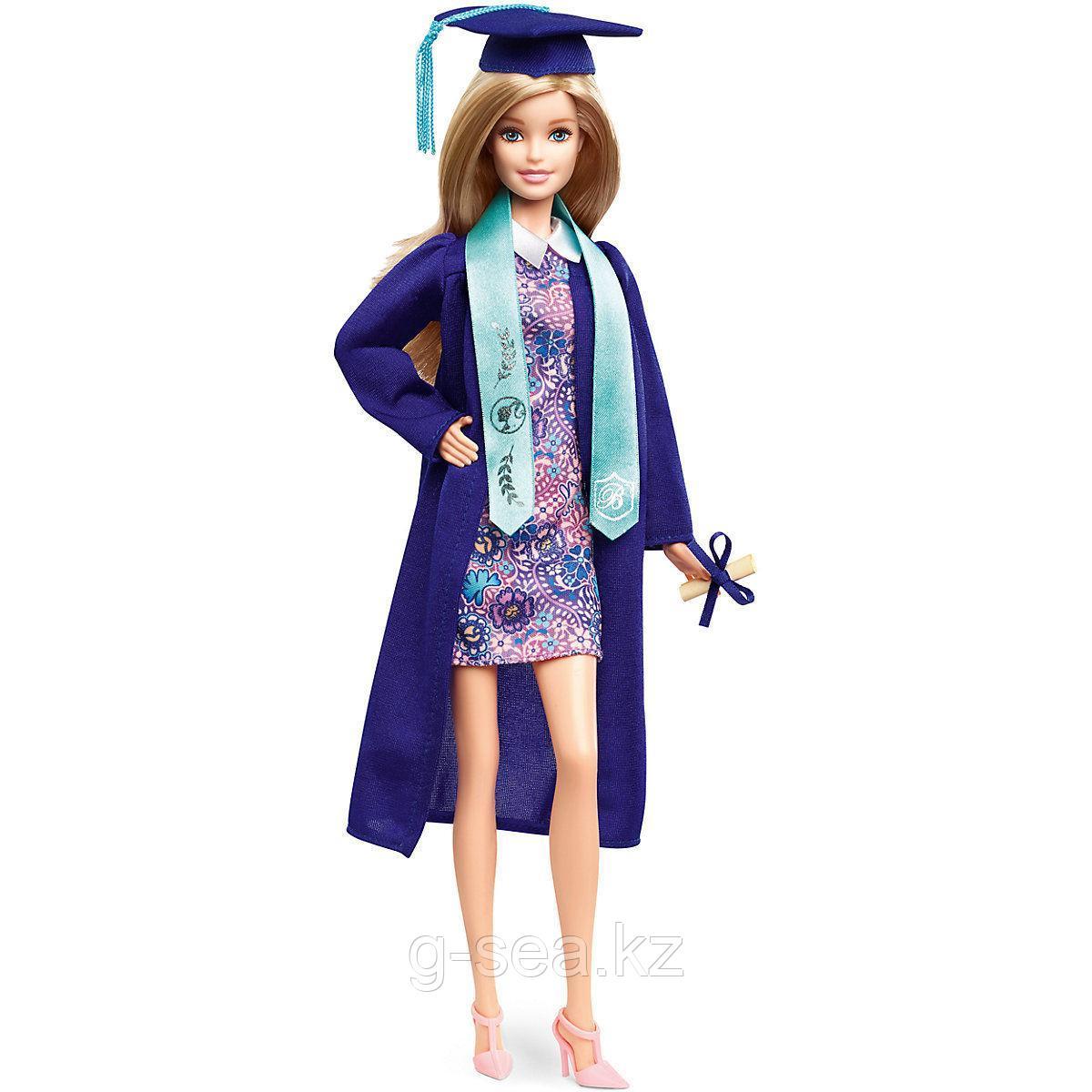 """Barbie: Коллекционные: Кукла Barbie коллекционная """"Выпускница колледжа"""" в синей мантии"""