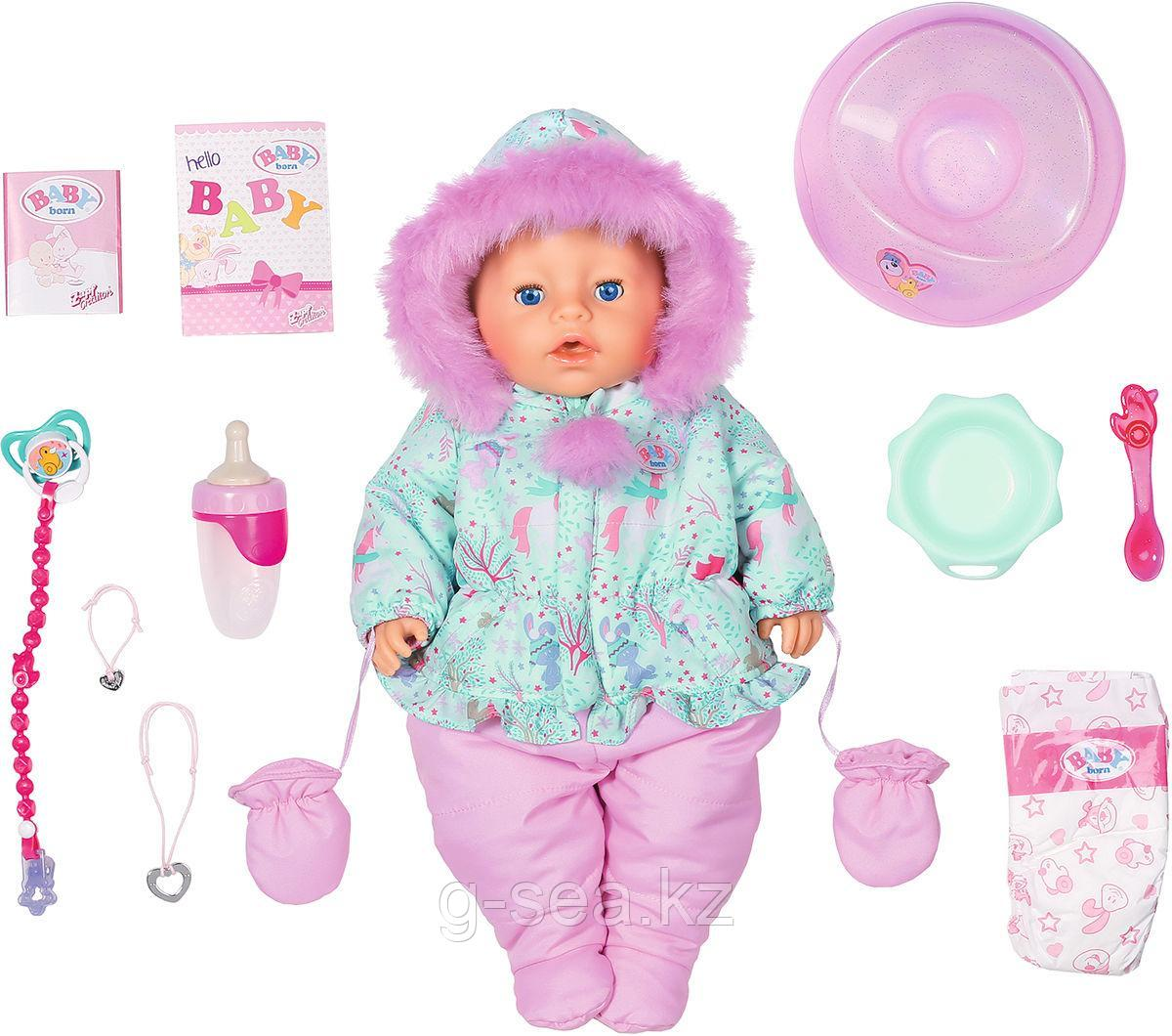 BABY born: Кукла Интерактивная Зимняя, 43 см, кор.
