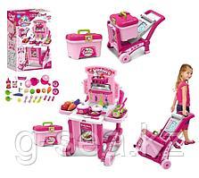 Besty: Игровой набор кухня на колёсиках, розовая