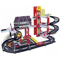 BBURAGO: 1:43 Игр.н-р Гараж для гоночных машин FERRARI + 1 машинка
