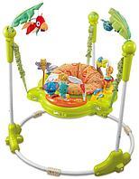 Konig Kids: Развивающий центр прыгунки с игрушками Джунгли (круглая база, зеленые)