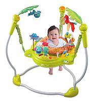 Konig Kids: Развивающий центр прыгунки с игрушками Джунгли (фигурная база, зеленые)