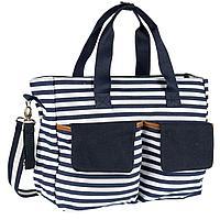 Chicco: Дорожная сумка для мамы в полоску син/бел