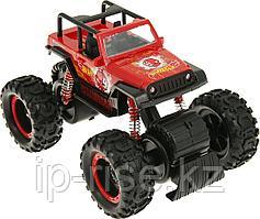 Hot Wheels: License. 1:16 Monster Truck фрикционный с аммортизаторами, красный
