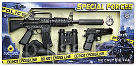Gonher: Special Forces. Автомат, пистолет, бинокль, кобура и полицейский значок
