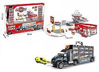 OS: Игр.н-р Пожарная станция + Трейлер 12 машинок