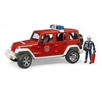 Bruder: Внедорожник Jeep Wrangler Unlimited Rubicon Пожарная с фигуркой