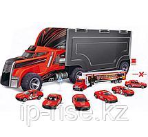 OS: Трейлер с машинками, Дорожное приключение, 13 пред.,красный