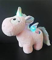 Plush: Мягкая игрушка Единорог baby музыкальный со светящ.крылышками бел./роз., 30 см в асс.