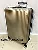 Большой пластиковый дорожный чемодан на 4-х колесах.Высота 74 см, ширина 47 см, глубина 27 см.