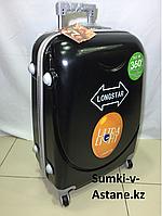Средний пластиковый дорожный чемодан на 4-х колесах Longstar.Высота 63 см, ширина 41 см, глубина 25 см., фото 1