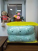 Подушка для беременных светло зеленая звезды, фото 1