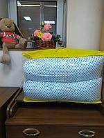 Подушка для беременных голубой/горошек